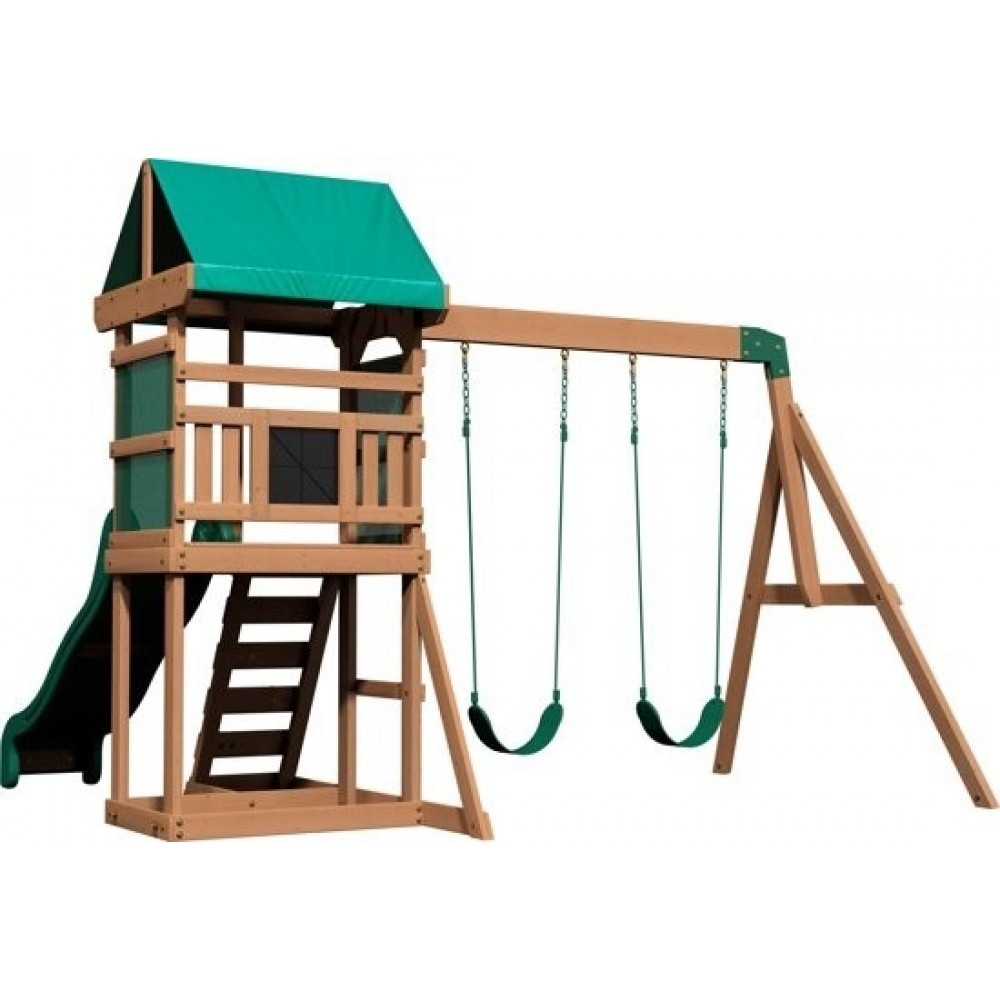 Backyard Discovery Buckley Hill Play Tower With Swings ...