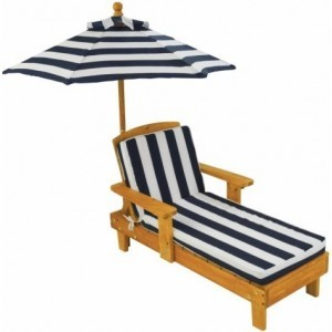 Outdoor Chaise -Chaise Longue- with cushion and umbrella - Kidkraft (00105)