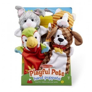 Hand Puppets Friendly Animals - Melissa & Doug (19084)