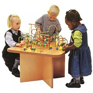 Wood Beads Square Corner Table - Joy Toy (01.09020)