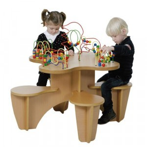 Wooden Beads Table Chair & Play Corner - Joy-Toy (01.09050)