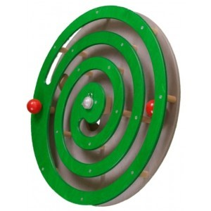 Wall panel Ball spiral Green