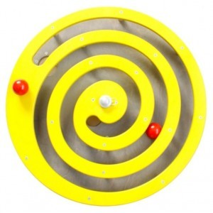 Wall panel Ball spiral Yellow