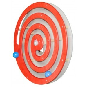 Wall Panel Ball Spiral Red