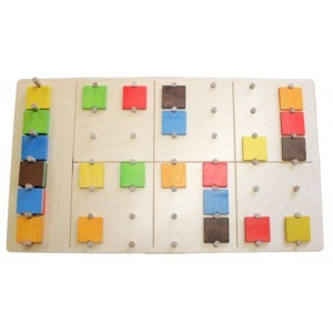 Wall panel Sudoku color puzzle