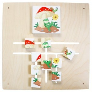 Wall panel Maze Puzzle Frog and Mushroom