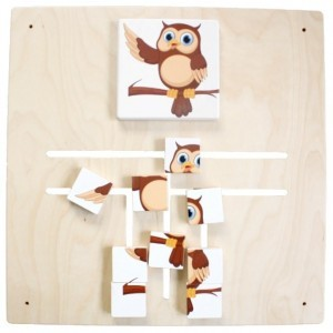 Wall panel Maze Puzzle Owl