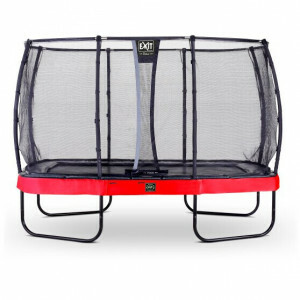 EXIT Elegant Premium Trampoline 244x427cm with Deluxe Safetynet - Red