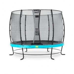 Elegant trampoline ø305cm with safety net Economy - blue - Exit (09.10.10.60)