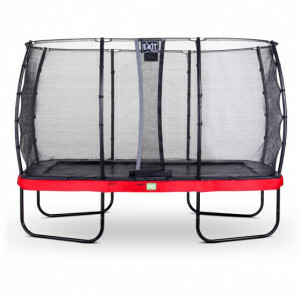 EXIT Elegant Trampoline 244x427cm with Economy Safetynet - Red