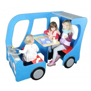 Wooden Bus Play Corner