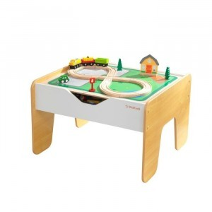 2-in-1 Activity Table In Gray and White With Board