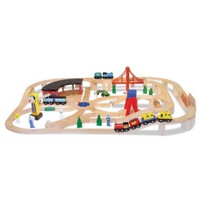 Wooden Railway Set - Melissa & Doug (10701)