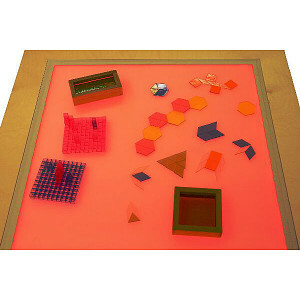 Colored Light Table
