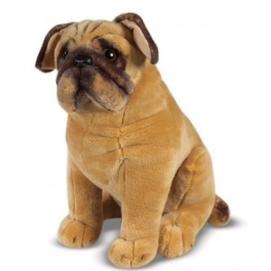 Large Plush Pug Rooney - Melissa & Doug (12125)