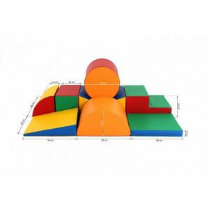 Soft Play foam play blocks set 11, 8-piece XL