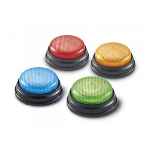 Light & Sounds Answer Buzzers - Set of 4 - Explore your senses (15072)