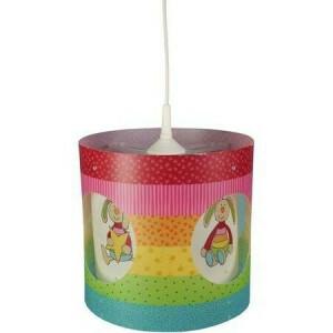 Rainbow Rabbit Rotating Pendant Lamp