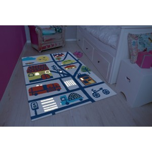 Children's Carpet Multi City  (110 x 160cm)
