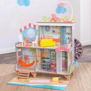Ferris Wheel Fun Beach House Dollhouse With Ez Kraft Assembly