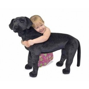 Labrador Blackie - big plush toy - Melissa & Doug (12117)