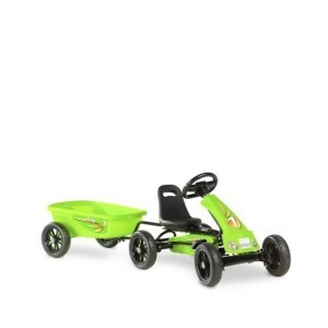 Exit Foxy Green Pedal Go-kart With Trailer - Green