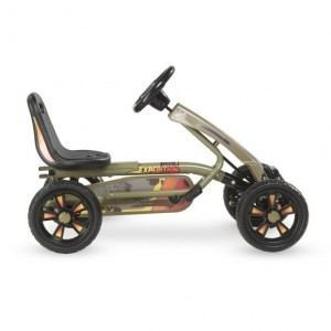 Exit Foxy Expedition Go-kart With Trailer - Dark Green