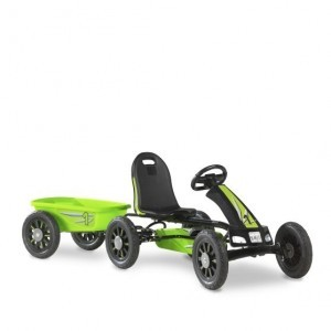 Exit Spider Green Go-kart With Trailer - Green