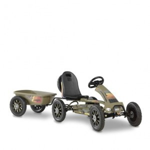 Exit Spider Expedition Go-kart With Trailer - Dark Green