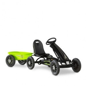 Exit Cheetah Go-kart With Trailer - Green / Black