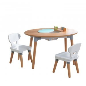 Mid-century Kid Set With Table and 2 Chairs For Toddlers