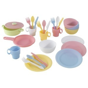 Pastel Cookware Play set (27 Pieces) - Kidkraft (63027)