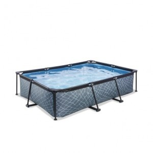 Exit Stone Pool 300x200x65cm with Filter Pump - Gray