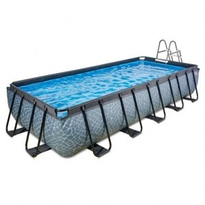 Exit Stone Pool 540x250x100cm with Sand Filter Pump - Gray