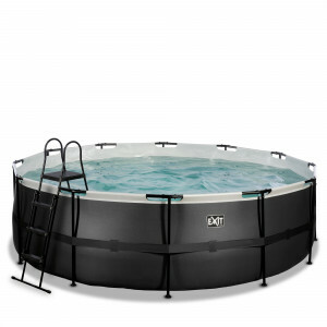 Exit Black Leather Pool Ø450x122cm with Filter Pump - Black