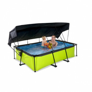Exit Lime Pool 220x150x65cm with Canopy and Filter Pump - Green