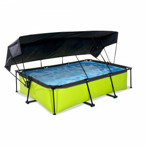 Exit Lime Pool 300x200x65cm with Canopy and Filter Pump - Green