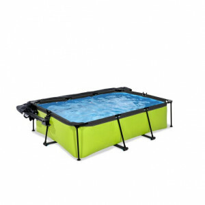 Exit Lime Pool 220x150x65cm with Dome, Canopy and Filter Pump - Green