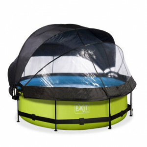 EXIT Lime Pool ø300x76cm with Dome and Filter Pump - Grey