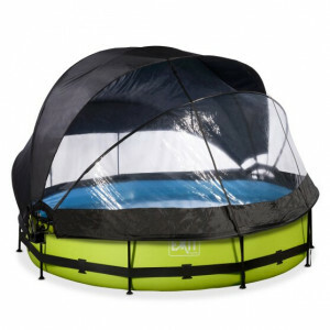 EXIT Lime Pool ø360x76cm with Dome, Canopy and Filter Pump - Green