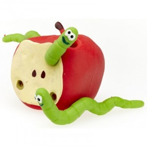 Stretchy Apple and Worms - (35120)