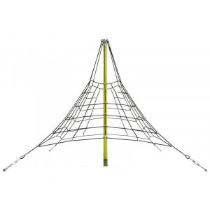 Reinforced Rope Pyramid Net - 2.7 m - Black / Lime Green