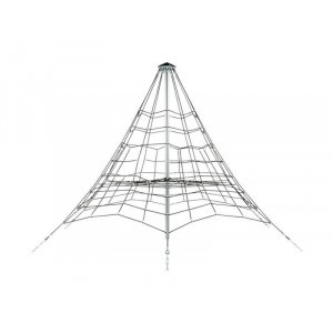 Reinforced Rope Pyramid Net - 3.5 M - Black / Galvanized / Black