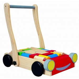 Wooden Walker Car With Building Blocks - Plan Toys (4005123)
