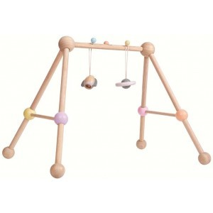Wooden Pastel Baby Gym
