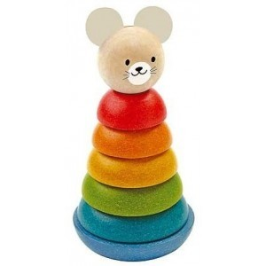 Wooden Stacking Figure Mouse - Plan Toys (4005681)