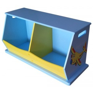 Transport 2-bin Storage Unit - Liberty House Toys (LHTB103)