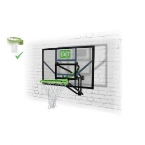Exit Galaxy Wall-mounted Basketball Backboard With Dunk Ring - Green / Black