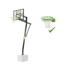 Exit Galaxy Ground Mounting Basketball Backboard With Dunk Ring - Green / Black