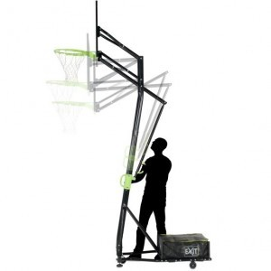 Exit Galaxy Portable Basketball Backboard On Wheels - Green / Black